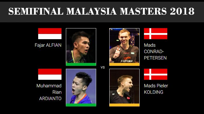 Live Streaming Semifinal Malaysia Masters 2018 - Indonesia Sisakan 2 Wakil, Fajar/Rian Main Pertama