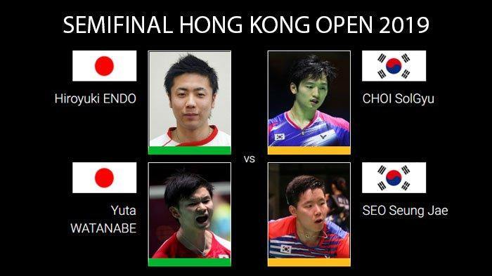 Live Streaming Semifinal Hong Kong Open 2019 Endo/Watanabe vs Choi/Seo, Calon Lawan Ahsan/Hendra