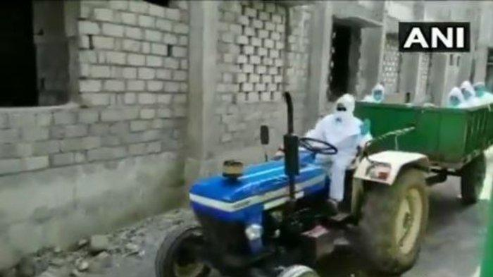 Tak Kunjung Ditangani, Dokter Bawa Jenazah Korban Covid-19 Dengan Traktor, Pengemudi Melarikan Diri