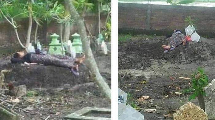 Diduga Anaknya Jadi Korban Tabrak Lari, Seorang Ibu Nekat Tidur Di Sebelah Kuburan Putrinya