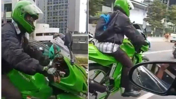 Kreatif! Pria Ini Modif Sepeda, Dari Belakang Seperti Naik Motor Sport, Dari Dekat Malah Dikayuh