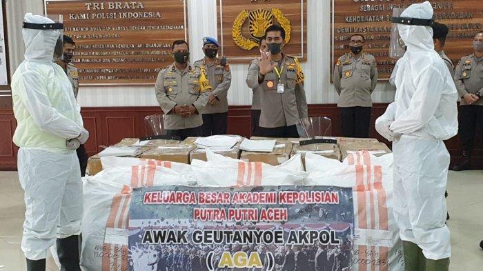 Keluarga Besar Akpol Aceh Bantu 500 APD untuk Polda
