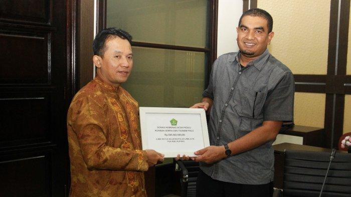 ASN Kemenag Aceh Bantu Rp 585 Juta untuk Korban Tsunami dan Likuifaksi Sulteng