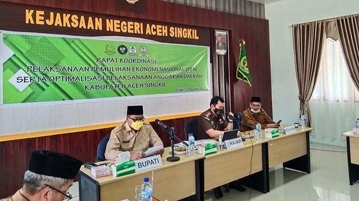 Dukung Program PEN, Bupati Aceh Singkil Instruksikan Kepala Dinas Genjot Serapan Anggaran