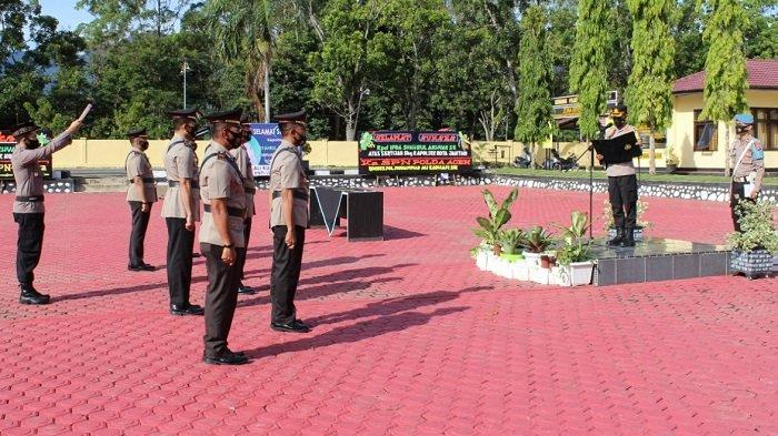 Kapolres Aceh Besar Pimpin Sertijab Kasat Sabhara dan Sejumlah Kapolsek