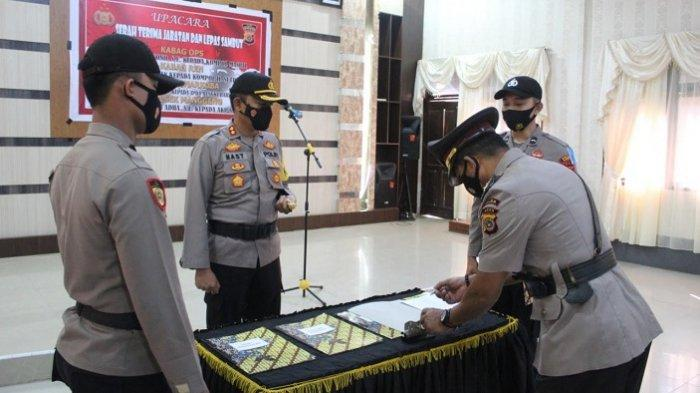 Kapolres Abdya Pimpin Sertijab Sejumlah Perwira, Ini Sejumlah Perwira Dimutasi