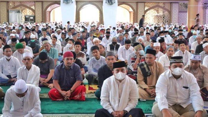 Begini Suasana Shalat Idul Fitri 1442 Hijriah di Subulussalam, Tentu Tetap Terapkan Protkes Covid-19