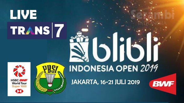 Jadwal Siaran Langsung Badminton Indonesia Open 2019, Live di Trans7