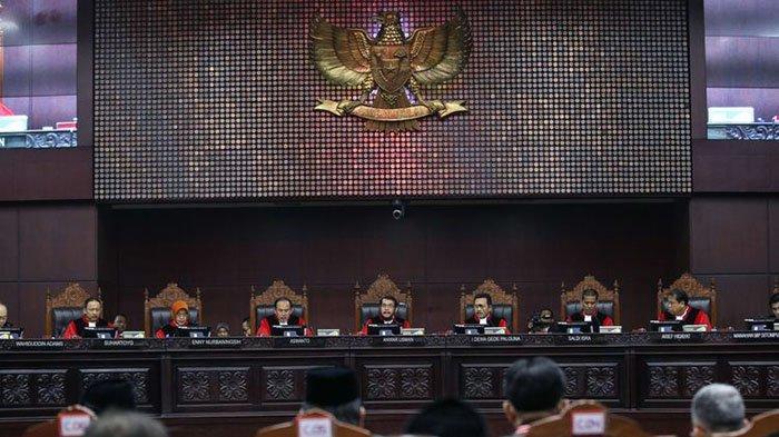 Sidang Putusan Sengketa Pilpres 2019, MK: Pemohon Gagal Buktikan Adanya 5,7 Juta Pemilih Fiktif