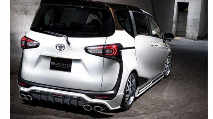 Body kit Toyota Sienta Mz Speed bagian belakang