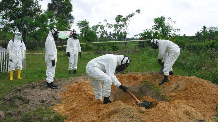 Polres Aceh Timur Simulasikan Proses Pemakaman Jenazah Pasien Covid-19