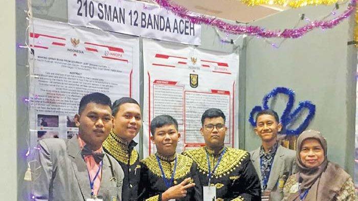 SMA 12 Banda Aceh Raih Perunggu, Pada Kompetisi Inovasi yang Diikuti 15 Negara