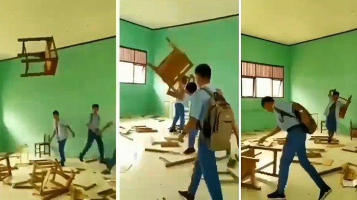 Viral Siswa SMK 2 Sigli Hancurkan Kursi dan Meja Belajar, Begini Penjelasan Kepala Sekolah