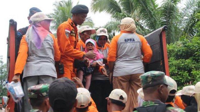BPBA Skenariokan Banjir Besar di Trumon, Ratusan Warga Terlibat