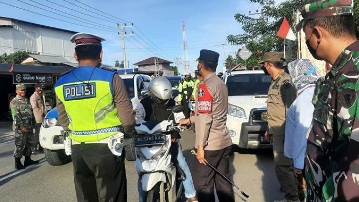 Hari Ini, Polisi Lakukan Penyekatan di Kecamatan Padang Tiji, Kapolres: Petugas Bersikap Sopan