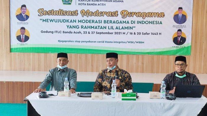 Kankemenag Banda Aceh Gelar Kegiatan Sosialisasi Moderasi Beragama