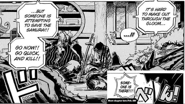 Prediksi One Piece Chapter 1005: Sosok Siluet Yang Bersama Samurai Akazaya Mungkin Hiyori atau Toki