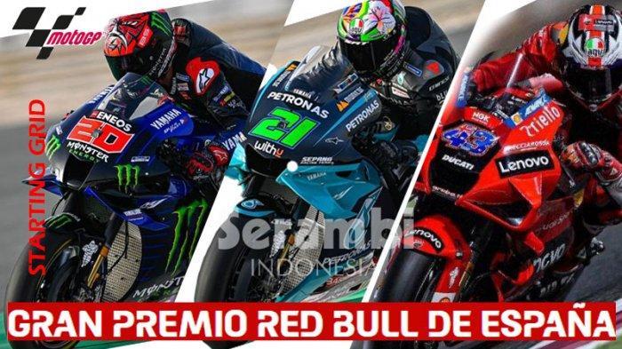 Starting Grid MotoGP Spanyol 2021 - Fabio Quartararo Paling Depan, Marc Marquez Pas di Depan Rossi