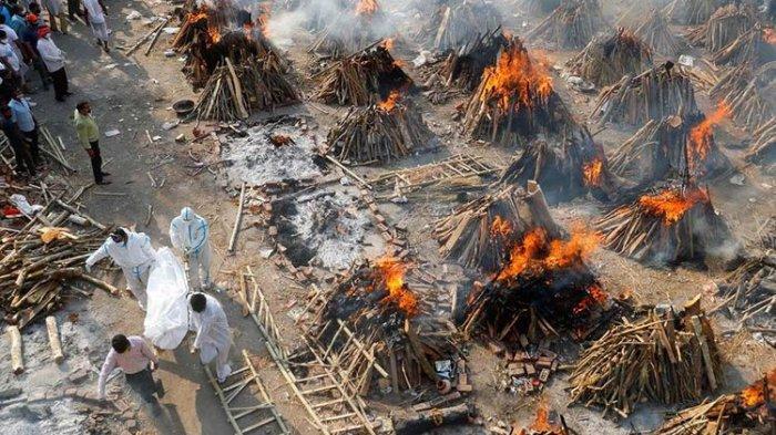 Tsunami Covid-19 di India, 117 Orang Meninggal Per Jam, Anak Buang Ibu, Pohon Ditebang untuk Kremasi