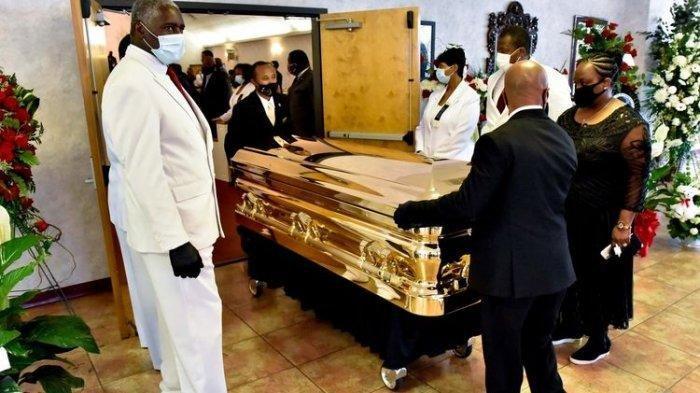 Suasana Pemakaman George Floyd, Disemayamkan di Peti Emas dan Disiarkan Langsung