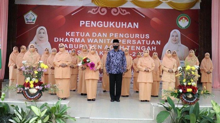 Pengurus DWP Aceh Tengah Dikukuhkan
