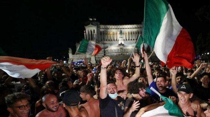 Dukung Azzuri di Final Euro 2020, Seribu Suporter Italia Terbang ke London