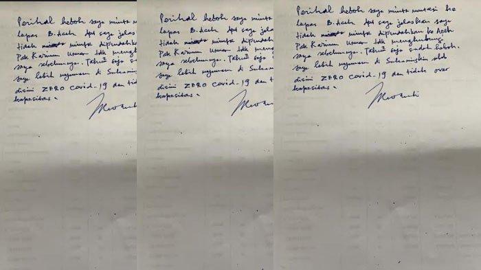 Irwandi Yusuf Kirim Surat Tulisan Tangan dari Lapas Sukamiskin, Bantah Minta Pindah ke Aceh