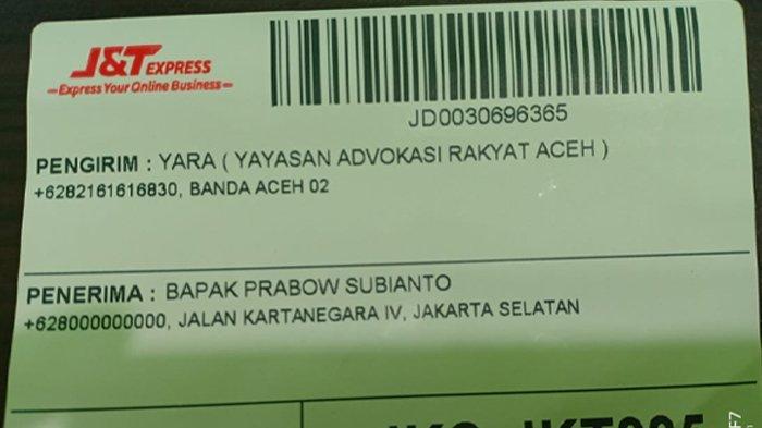 Surat YARA untuk Prabowo