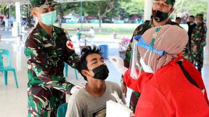 Kodim 0101/BS Gelar Swab Antigen Secara Acak di Blang Padang