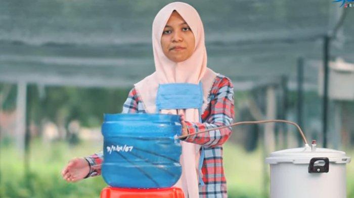 Siswi SMA Modal Bangsa Usung Video Distilasi Nilam Aceh sebagai Antivirus ke Lomba Kihajar STEM 2020