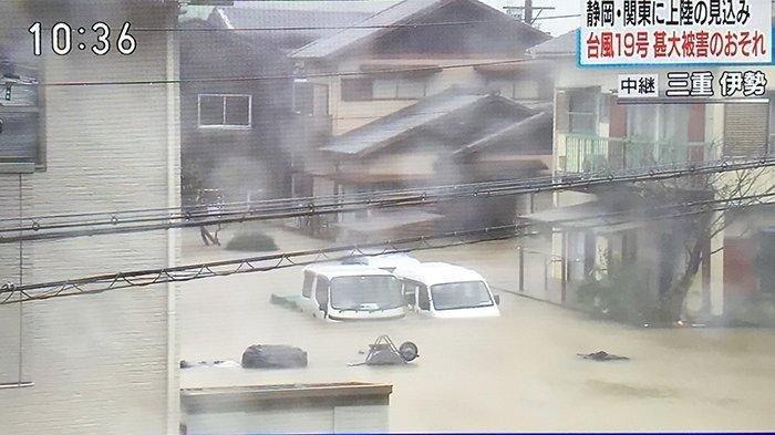 Jepang Dihantam Taifun No.19, Ratusan Ribu Orang Mengungsi