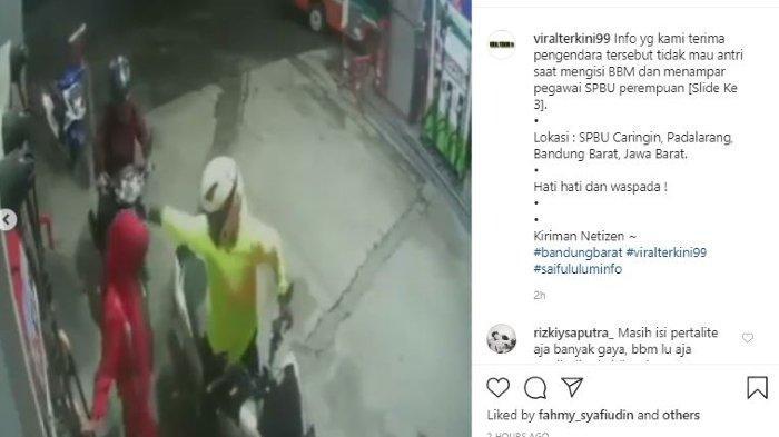 Viral Video Pengendara Tampar Wanita Petugas SPBU, tak Terima Terima Ditegur karena Serebot Antrean