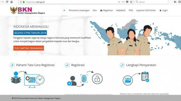 CPNS 2018 - Akun SSCN Daftar CPNS Tahun Lalu Tak Bisa Dipakai, Pelamar Harus Buat Baru