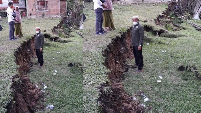 Tanah Bergerak di Kuta Cot Glie Tetap Turun Meski tak Hujan, Sudah 140 Cm Dalamnya