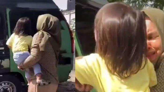 Tangis Pilu Perpisahan Bocah dengan Pengasuhnya, 5 Tahun Merawat Harus Pulang karena Mau Taaruf