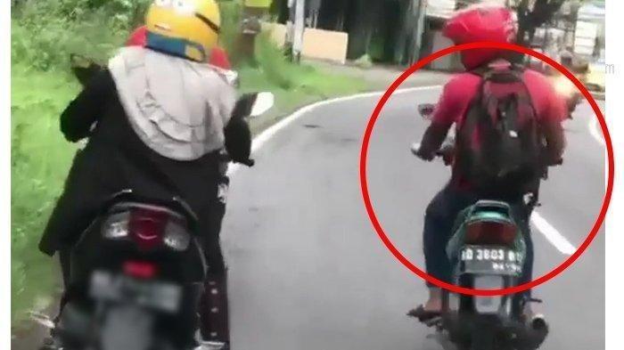 VIRAL Video Pria Pamer Kelamin Saat Naik Sepeda Motor, Polisi Buru Pelaku