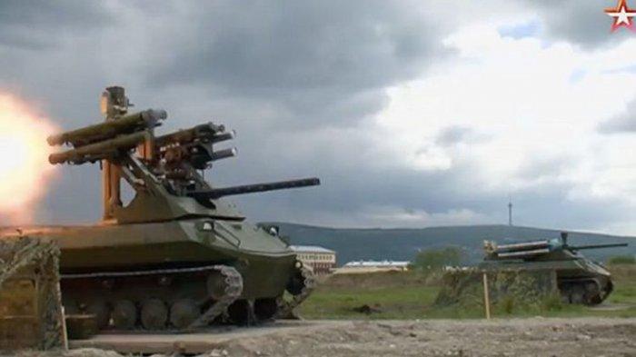 VIDEO - Tank Tanpa Awak Milik Rusia Terekam Kamera Saat Uji Coba, Lihat Keunggulan Tempurnya