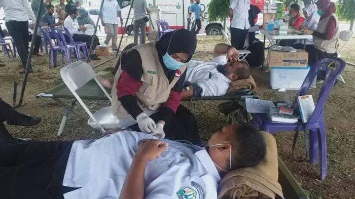 Keluarga Besar Tarung Derajat Kumpulkan Darah 108 Kantong Melalui Aksi Donor di Bireuen