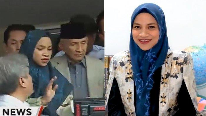 Inilah Sosok Wanita yang Mendampingi Amien Rais di Polda Metro Jaya, Ternyata Bukan Hanum Rais