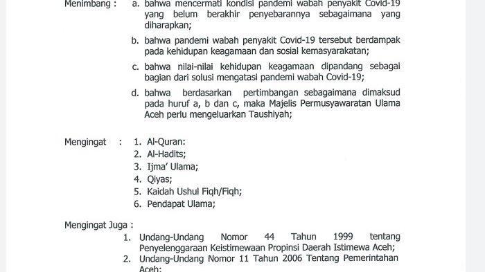 Hindari Covid-19, MPU Aceh Larang Kumpul-kumpul, Buka Puasa Bersama, Sahur Bersama, dan Safari Subuh