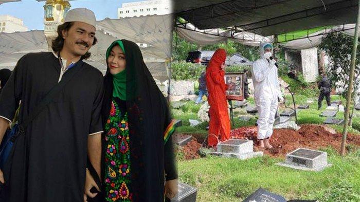 Teddy Syach Azani Rina Gunawan di Pemakaman, Suaranya Bergetar hingga Menangis