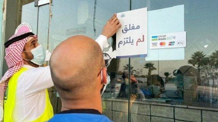 Arab Saudi Peringatkan Penduduk, Pelanggar Protokol Kesehatan Covid-19 Didenda dan Penutupan