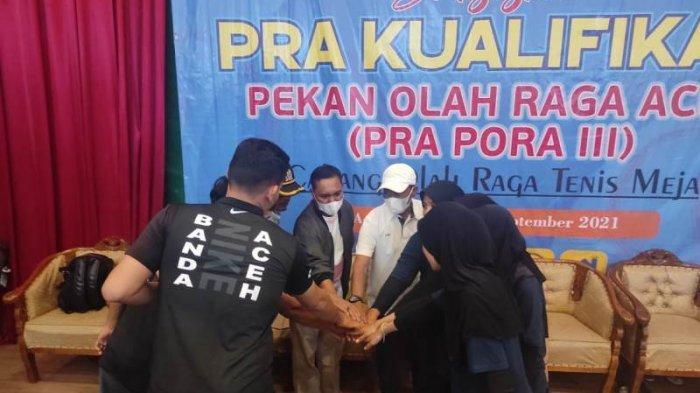 Tenis Meja Putra & Putri Banda Aceh Lolos ke PORA 2022 di Pidie, Usai Menang di Pra-Kualifikasi PORA