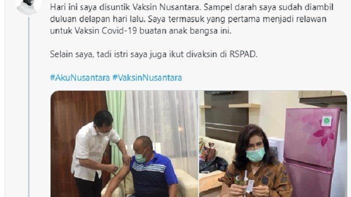 Aburizal Bakrie Divaksin Nusantara, Percaya pada Terawan yang Sudah Selamatkannya Melalui Cuci Otak