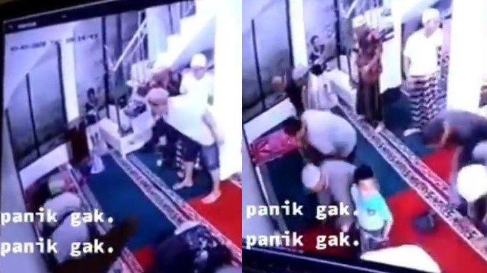 Terekam CCTV, Reaksi Kocak dan Heboh Jamaah yang Tengah Beribadah Buyar Saat Ada Tikus Masuk Masjid