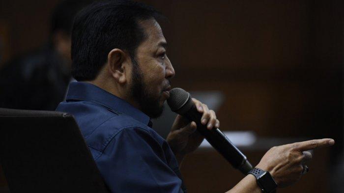 Penampilan Baru Setya Novanto saat Jadi Saksi Sofyan Basir, Tampil dengan Kumis dan Brewok