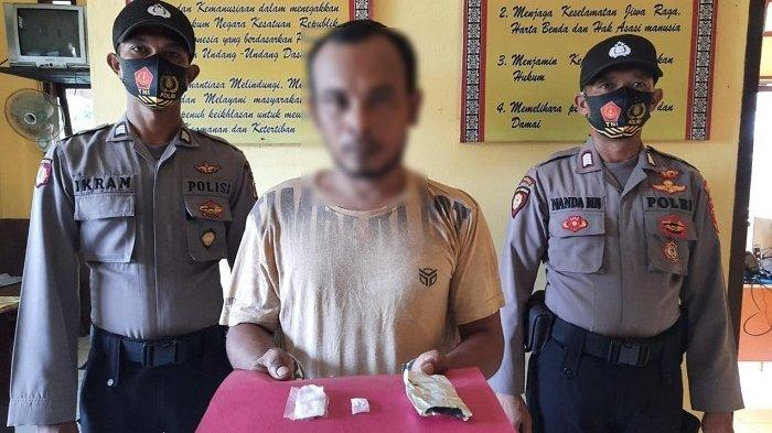 Kelabui Polisi, Tersangka Sembunyikan Sabu di Bawah Pipa Saluran Pembuang
