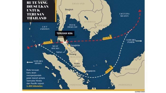 Polemik Terusan Kra, Ambisi Thailand yang Bisa Ancam Singapura, Malaysia dan Indonesia