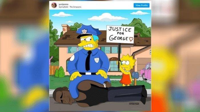 Beredar Gambar Kartun The Simpsons Memprediksi Kematian George Floyd, Benarkah? Cek Faktanya