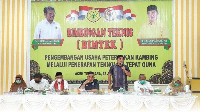 Ketua DPRK Aceh Tenggara Denny F Roza Buka Bimtek Pengembangan Usaha Ternak Kambing